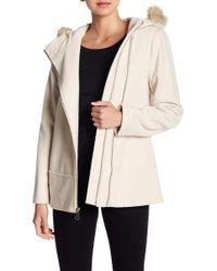 Andrew Marc - Hazel Genuine Fur Trim Hooded Coat - Lyst