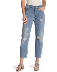 Lost Ink - Low Rise Straight Leg Jeans - Lyst