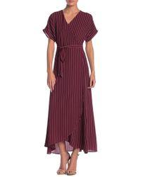 Bobeau - Printed Wrap Maxi Dress - Lyst