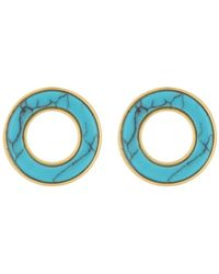 Madewell - Stone Inlay Circle Stud Earrings - Lyst