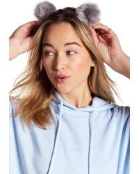 Noir Jewelry - Solid Pompom Headband - Lyst