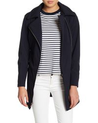 Via Spiga - Asymmetrical Front Zip Hooded Raincoat (petite) - Lyst
