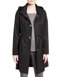 Cece by Cynthia Steffe - 'ellie' Turn Key Raincoat With Detachable Hood - Lyst