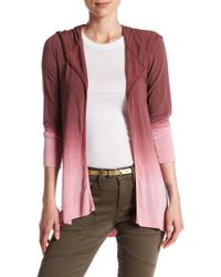 Go Couture - Dip-dye Hooded Cardigan - Lyst
