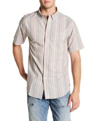 Ezekiel - Winger Stripe Short Sleeve Regular Fit Shirt - Lyst