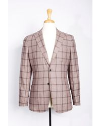 Boga - Windowpane Wool & Cashmere Blazer - Lyst