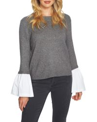 1.STATE - Mixed Media Crew Neck Jumper - Lyst
