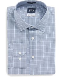 John W. Nordstrom - John W. Nordstrom Trim Fit Check Dress Shirt - Lyst