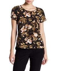 French Connection - Eso Contrast Back Floral Blouse - Lyst
