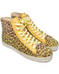 Kim & Zozi   Sierra Lace-up High Top Faux Fur Sneaker   Lyst