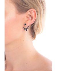 Marchesa - Gold-tone Stone Front & Back Earrings - Lyst