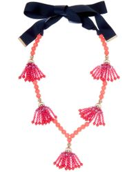 Trina Turk - Beads In Bloom Beaded Tassel Station Necklace - Lyst