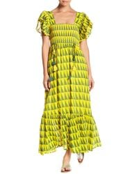 Banjanan - Smocked Printed Maxi Dress - Lyst