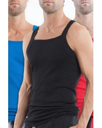 Papi - Square Neck Cotton Tank - Pack Of 3 - Lyst