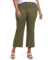Sejour - Wide Leg Ankle Pants (plus Size) - Lyst