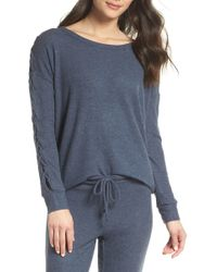 Chaser - Love Lace-up Sleeve Sweatshirt - Lyst