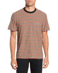 James Perse - Vintage Stripe Regular Fit Pocket T-shirt - Lyst