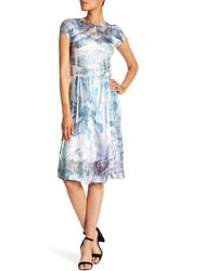 Komarov - Keyhole Fit & Flare Midi Dress - Lyst