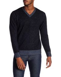 RAFFI - Wool Blend V-neck Sweater - Lyst
