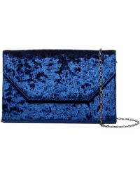 Halogen - Velvet Angled Day Clutch - Lyst