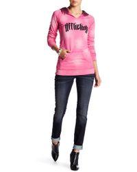 Affliction - Raquel V-stone Pocket Skinny Jean - Lyst