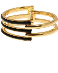 Trina Turk - Leather Open Work Hinge Bracelet - Lyst