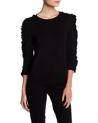 Philosophy Apparel - 3/4 Length Ruffle Sleeve Sweater - Lyst