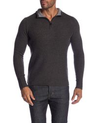 Ben Sherman - Micro Quarter Zip Funnel Neck Sweater - Lyst