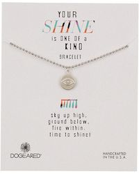 Dogeared - Sterling Silver Your Shine Eye Charm Bracelet - Lyst