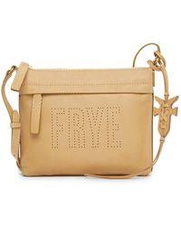 Frye - Carson Perforated Logo Leather Shoulder Bag - Lyst