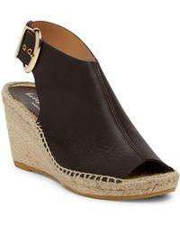 Bettye Muller - Dresser Leather Wedge Espadrille Sandal - Lyst