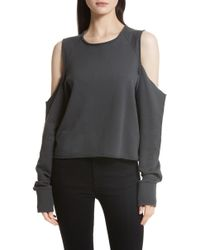 Rag & Bone - Standard Issue Cold Shoulder Sweatshirt - Lyst