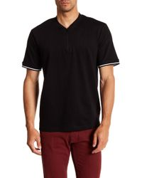 Kenneth Cole - Zip Up Shirt - Lyst
