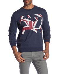 Ben Sherman - Long Sleeve Distort Union Jack Sweater - Lyst