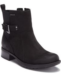 288897f5807 Rockport - Claudia Waterproof Leather Buckle Bootie - Wide Width Available  - Lyst