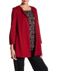 Adrienne Vittadini - Collarless Side Pocket Jacket - Lyst