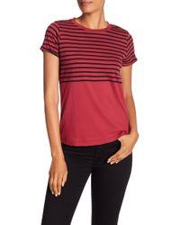 Lucky Brand - Striped Short Sleeve Tee - Lyst