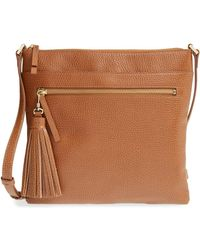 Halogen - Tasselled Leather Crossbody Bag - Lyst