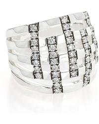 Ippolita - Sterling Silver Stardust Diamond Ring - 0.75 Ctw - Lyst