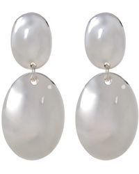 Simon Sebbag - Sterling Silver Double Oval Drop Earrings - Lyst