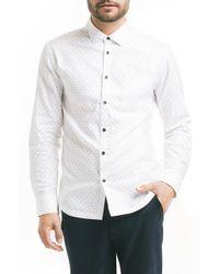 Good Man Brand - Slim Fit Pattern Sport Shirt - Lyst