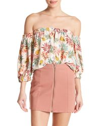 Romeo and Juliet Couture - Off-the-shoulder Tropical Blouse - Lyst