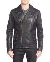 Lamarque - Moto Leather Biker Jacket - Lyst