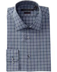 John Varvatos - Plaid Regular Fit Dress Shirt - Lyst