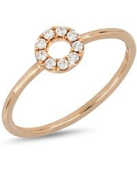 Bony Levy - 18k Rose Gold Diamond Open Circle Ring - Lyst