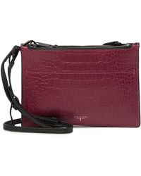 T Tahari - C&b Double Mini Zip Leather Satchel - Lyst