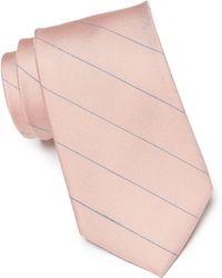 Calvin Klein - Classic Pinstripe Silk Blend Tie - Lyst