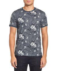 Ted Baker - Marrtin Floral Print T-shirt - Lyst