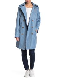 4b5711272e4 MICHAEL Michael Kors - Missy Double Breasted Hooded Trench Coat - Lyst