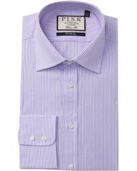 Thomas Pink - Ginsberg Stripe Classic Fit Dress Shirt - Lyst